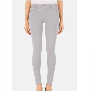 J Brand - Mid Rise Super Skinny Jeans - Limestone